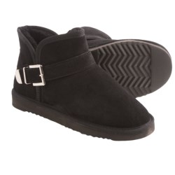 LAMO Footwear Betsy Ankle Boots - Suede, Sheepskin Wool Lining (For Women) in Chestnut