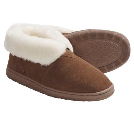 LAMO Footwear Bootie Slippers - Suede, Wool-Lined (For Women) in Chestnut