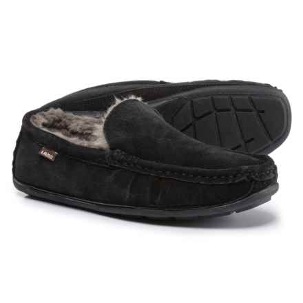LAMO Footwear Boston Driving Moccasins - Suede (For Men) in Black - Closeouts