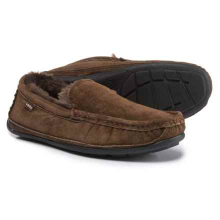 LAMO Footwear Boston Driving Moccasins - Suede (For Men) in Chocolate - Closeouts