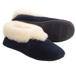 LAMO Footwear Carmen Sheepskin Slippers - Suede (For Women) in Navy