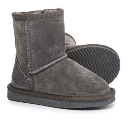 LAMO Footwear Classic Boots - Suede, Fleece Lined (For Infant and Toddler Girls) in Charcoal - Closeouts