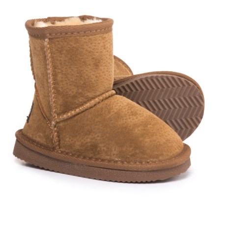 LAMO Footwear Classic Boots - Suede, Fleece Lined (For Infant and Toddler Girls) in Chestnut