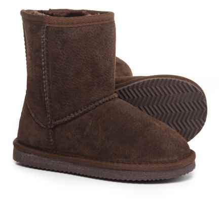 LAMO Footwear Classic Boots - Suede, Fleece Lined (For Infant and Toddler Girls) in Chocolate - Closeouts