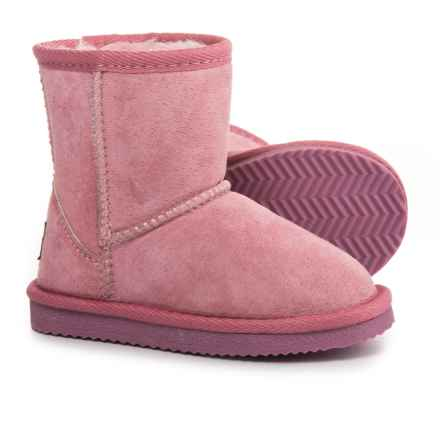 LAMO Footwear Classic Boots - Suede, Fleece Lined (For Infant and Toddler Girls) in Pink - Closeouts