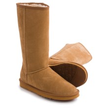 "LAMO Footwear Fleece Snow Boots - 12"", Suede (For Women) in Chestnut - Closeouts"