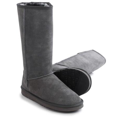 """LAMO Footwear Fleece Snow Boots - 12"""", Suede (For Women)"""