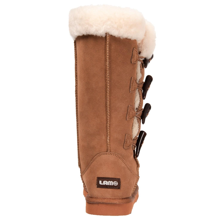2e4190c7e4a2e1 LAMO Footwear Four-Toggle Sheepskin Boots (For Women) - Save 49%