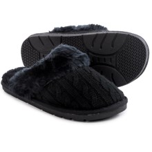 LAMO Footwear Knit Scuff Slippers (For Women) in Black - Closeouts