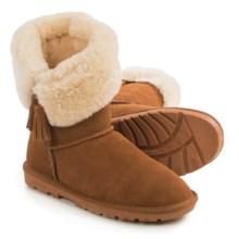 LAMO Footwear Kye Tassel Sheepskin Boots - Suede (For Women) in Chestnut - Closeouts