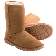 "LAMO Footwear Lady's 9"" Boots - Sheepskin Lined (For Women) in Chestnut - Closeouts"