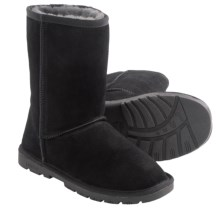 "LAMO Footwear Lady's 9"" Boots - Sheepskin Lined (For Women) in Black - Closeouts"