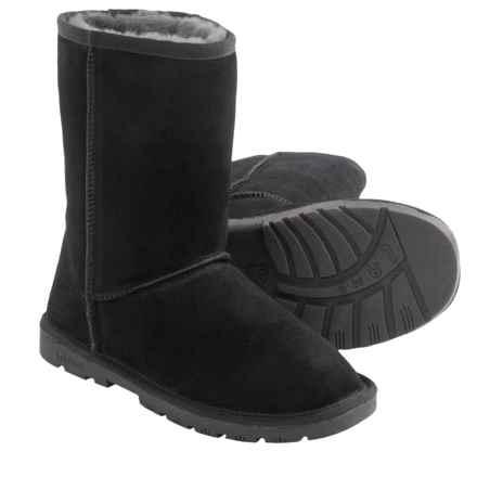 """LAMO Footwear Lady's 9"""" Boots - Sheepskin Lined (For Women) in Black - Closeouts"""