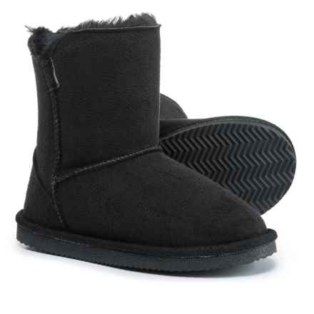 LAMO Footwear Little Essex Boots - Fleece Lined (For Girls) in Black - Closeouts