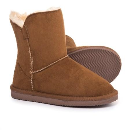 LAMO Footwear Little Essex Boots - Fleece Lined (For Girls) in Chestnut