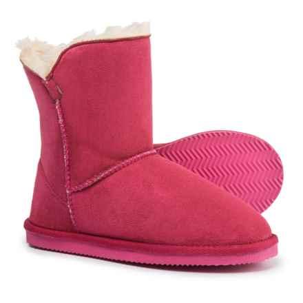 LAMO Footwear Little Essex Boots - Fleece Lined (For Girls) in Hot Pink - Closeouts