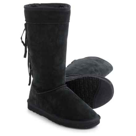 "LAMO Footwear Lookout Boots - 12"", Suede (For Women) in Black - Closeouts"