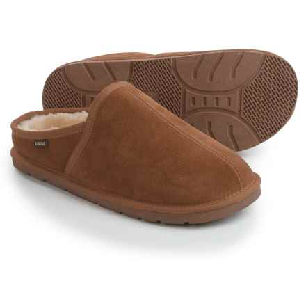 LAMO Footwear Mule Slippers - Suede (For Men) in Chestnut - Closeouts