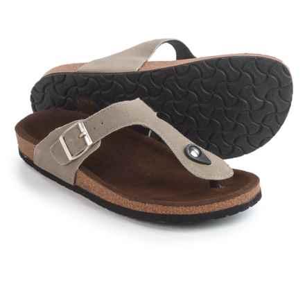 LAMO Footwear Redwood Sandals - Suede (For Women) in Mushroom - Closeouts