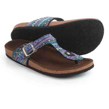 LAMO Footwear Redwood Sandals - Suede (For Women) in Tribal/Blue - Closeouts