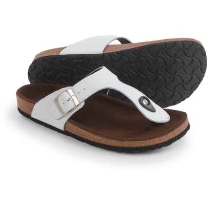 LAMO Footwear Redwood Sandals - Suede (For Women) in White - Closeouts
