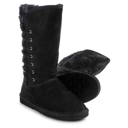 LAMO Footwear Robyn Snow Boots - Suede, Faux-Fur Lined (For Women) in Black - Closeouts