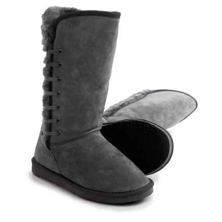 LAMO Footwear Robyn Snow Boots - Suede, Faux-Fur Lined (For Women) in Grey - Closeouts