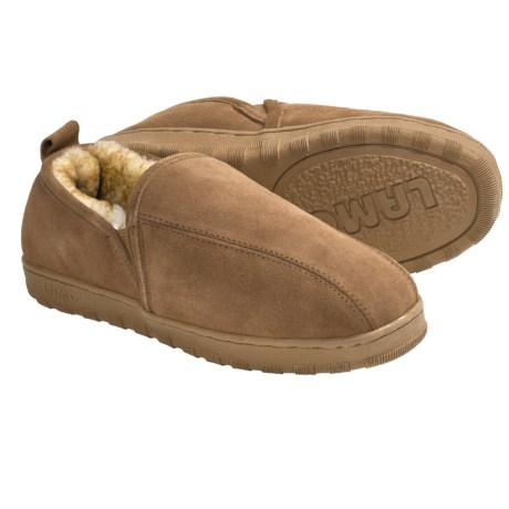 LAMO Footwear Romeo Slippers - Suede, Sheepskin-Lined (For Men) in Chestnut