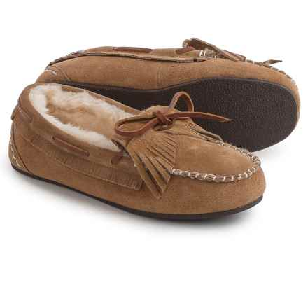 LAMO Footwear Rylee Moc Shoes - Suede, Slip-Ons (For Women) in Chestnut - Closeouts