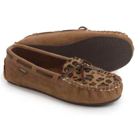 LAMO Footwear Sabrina Moc 2 Shoes - Slip-Ons (For Women) in Chestnut/Leapord Print - Closeouts