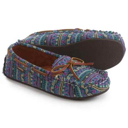 LAMO Footwear Sabrina Moc 2 Shoes - Slip-Ons (For Women) in Tribal/Blue - Closeouts