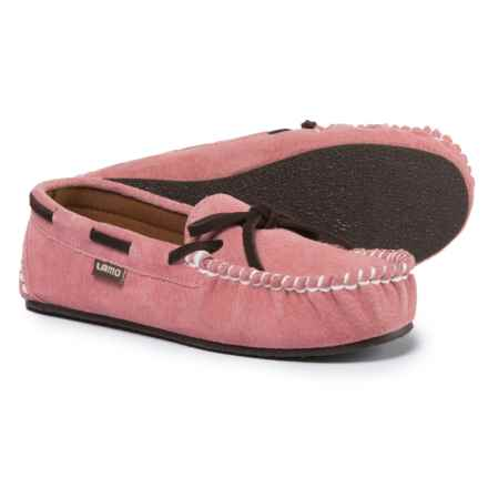 LAMO Footwear Sabrina Moccasins (For Little and Big Kids) in Pink - Closeouts