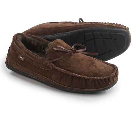 LAMO Footwear Santa Fe Moccasin Slippers - Suede (For Men) in Chocolate - Closeouts
