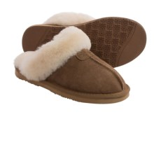 LAMO Footwear Scuff Slippers - Double-Faced Sheepskin, Suede (For Women) in Chestnut - Closeouts