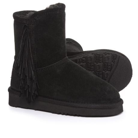 LAMO Footwear Sellas Boots - Suede (For Girls) in Black