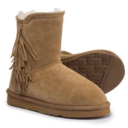 LAMO Footwear Sellas Boots - Suede (For Girls) in Chestnut - Closeouts