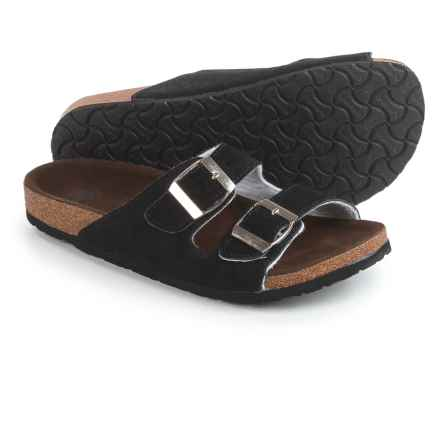 LAMO Footwear Sequoia Sandals - Suede (For Women) in Black - Closeouts