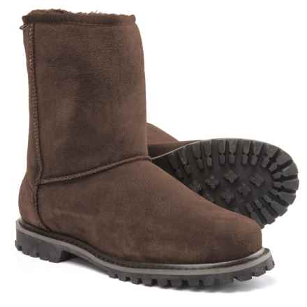 LAMO Footwear Sheepskin Apres Ski Boots - Suede (For Men) in Brown - Closeouts