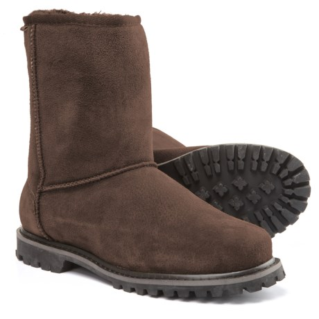 LAMO Footwear Sheepskin Apres Ski Boots - Suede (For Men) in Brown