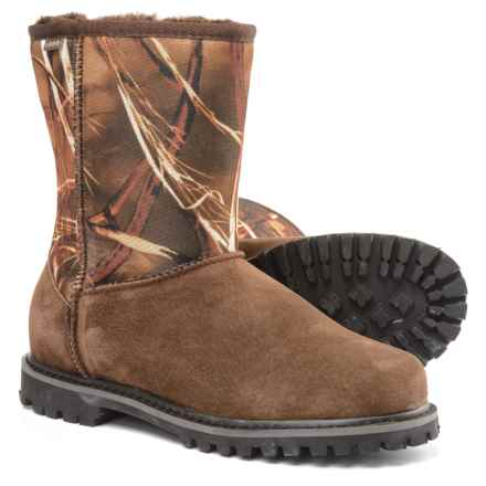 LAMO Footwear Sheepskin Apres Ski Boots - Suede (For Men) in Camo - Closeouts
