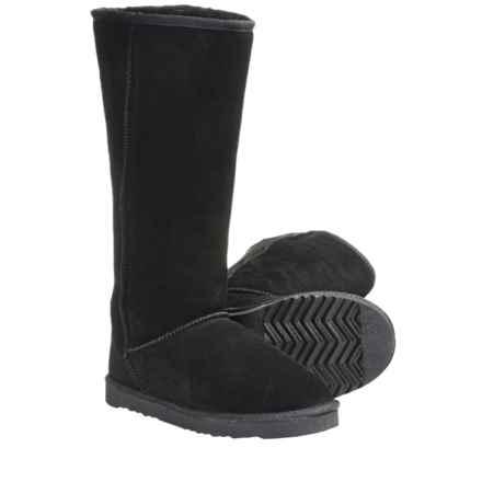 """LAMO Footwear Sheepskin Classic 14"""" Boots - Shearling Lining (For Women) in Black - Closeouts"""