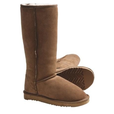 "LAMO Footwear Sheepskin Classic 14"" Boots - Shearling Lining (For Women) in Chestnut"
