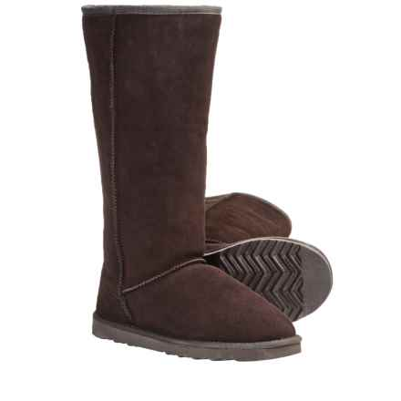 "LAMO Footwear Sheepskin Classic 14"" Boots - Shearling Lining (For Women) in Dark Chocolate - Closeouts"