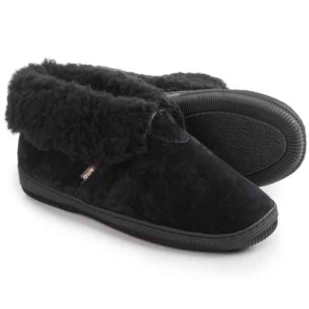 LAMO Footwear Suede Bootie Slippers - Fleece Lined (For Women) in Black - Closeouts