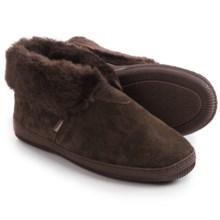 LAMO Footwear Suede Bootie Slippers - Fleece Lined (For Women) in Chocolate - Closeouts