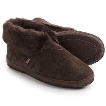 LAMO Footwear Suede Bootie Slippers - Fleece Lined (For Women) in Chocolate - Closeouts