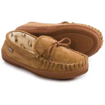 LAMO Footwear Suede Moccasins (For Women) in Chestnut - Closeouts