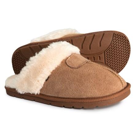 LAMO Footwear Suede Seamed Classic Scuff Slippers (For Women) in Chestnut -  Closeouts 3f230f770