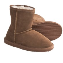 LAMO Footwear Suede Sheepskin Boots (For Big Kids) in Chestnut - Closeouts