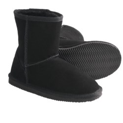 LAMO Footwear Suede Sheepskin Boots (For Youth, Boys and Girls) in Black